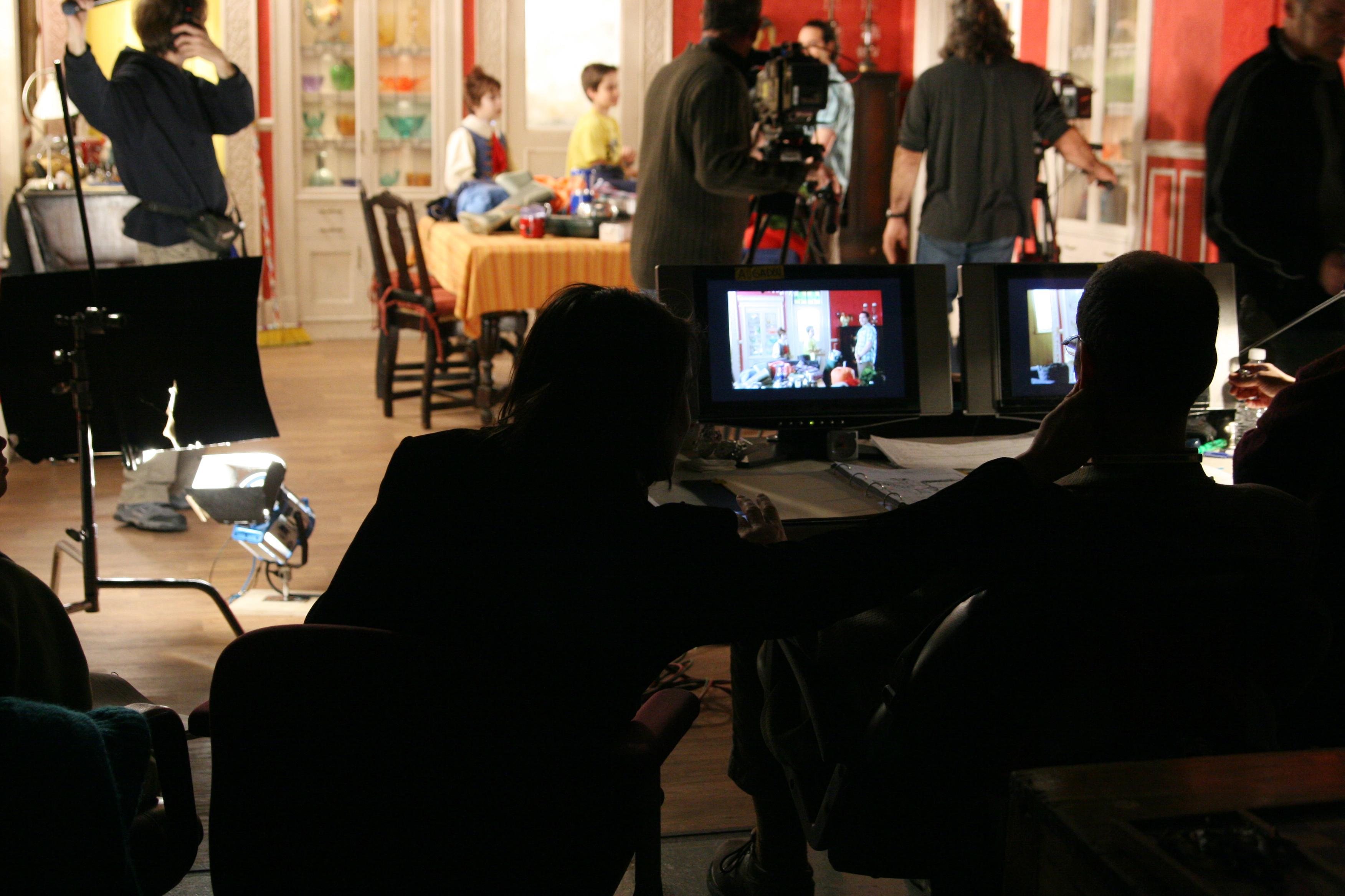 Sur le plateau de Sam Chicotte, lors du tournage de la série-jeunesse